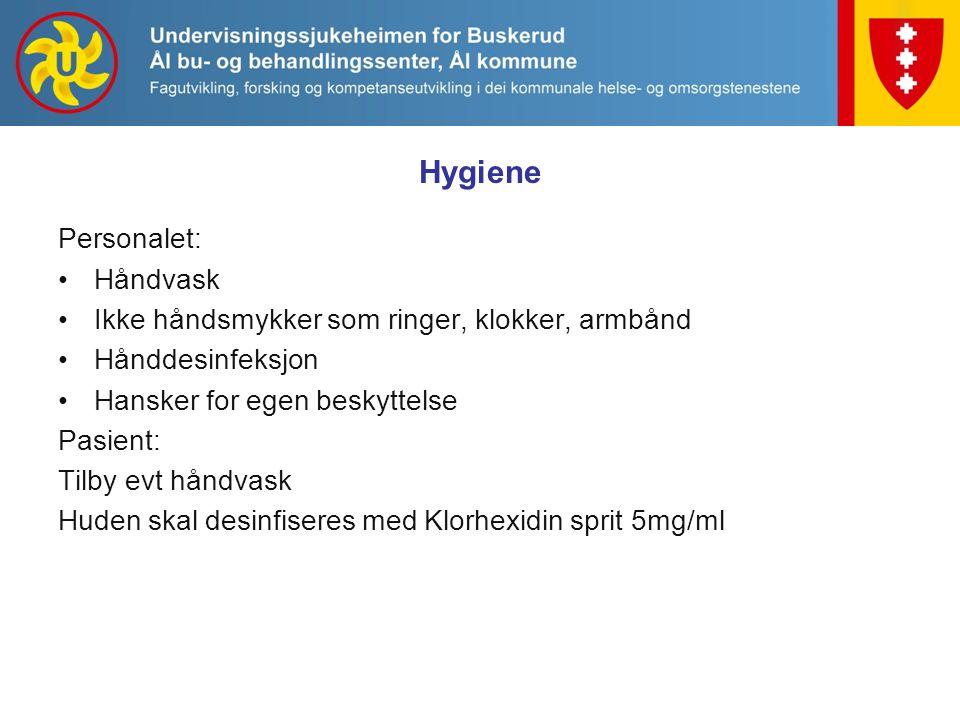 Hygiene Personalet: Håndvask