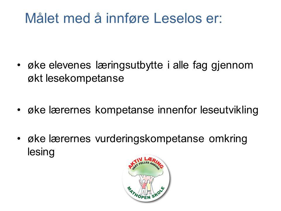 Målet med å innføre Leselos er: