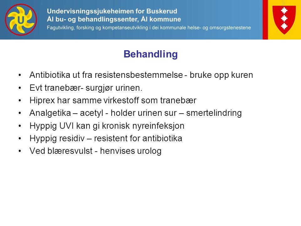 Behandling Antibiotika ut fra resistensbestemmelse - bruke opp kuren