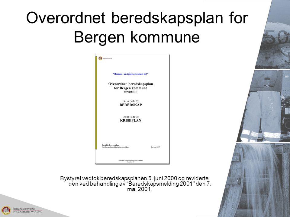 Overordnet beredskapsplan for Bergen kommune