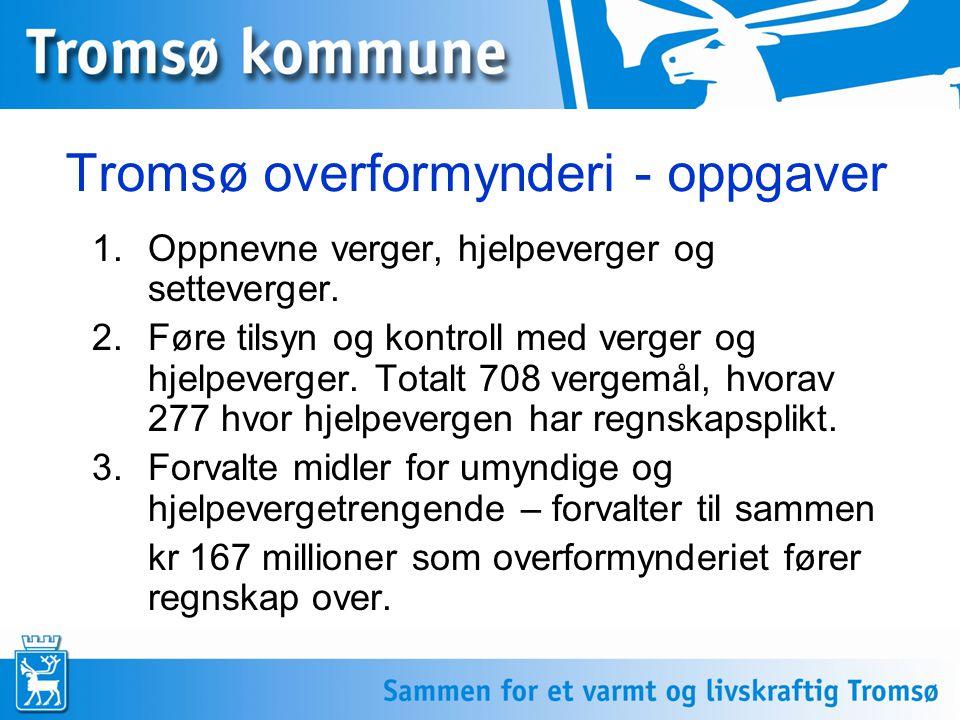 Tromsø overformynderi - oppgaver