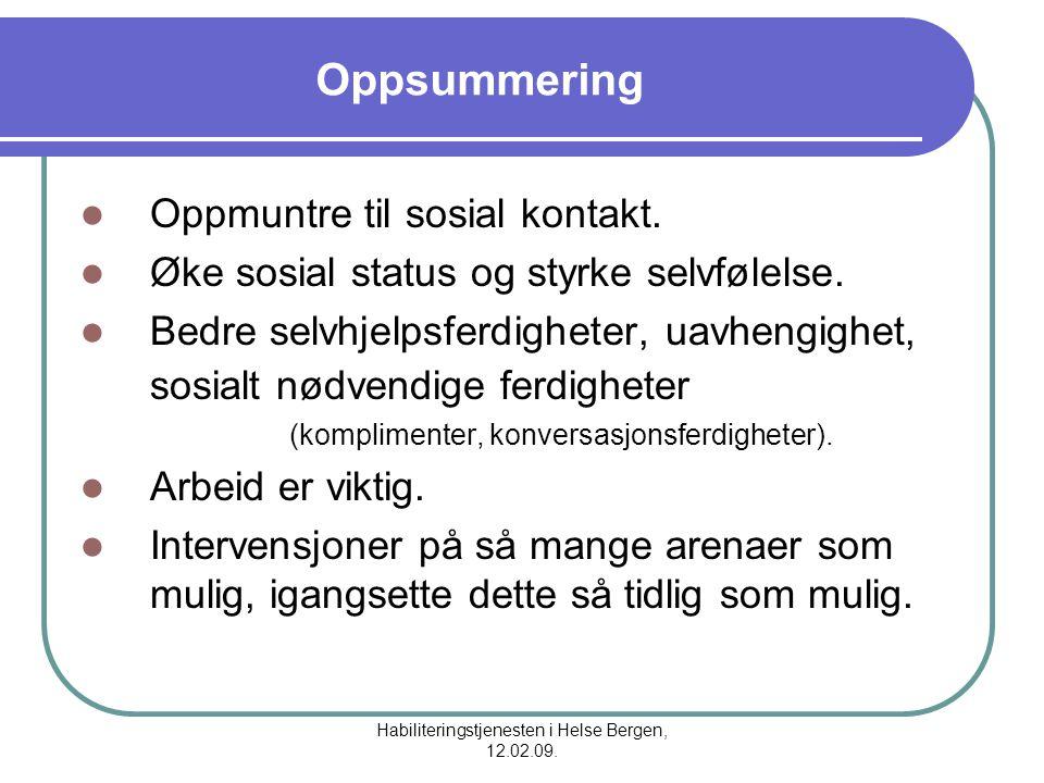 Habiliteringstjenesten i Helse Bergen, 12.02.09.