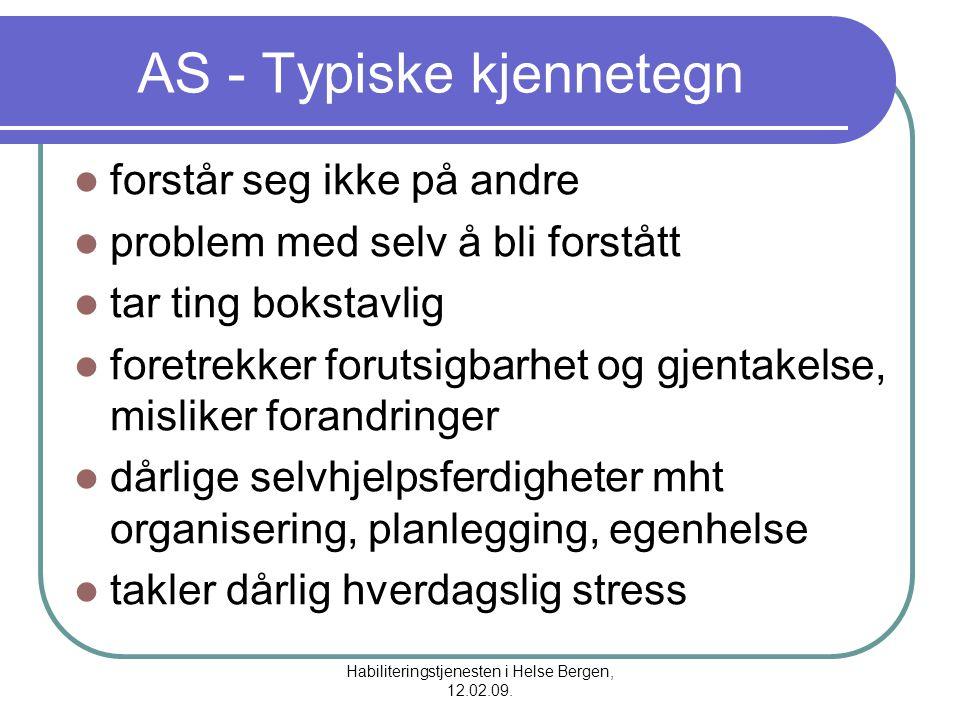 AS - Typiske kjennetegn
