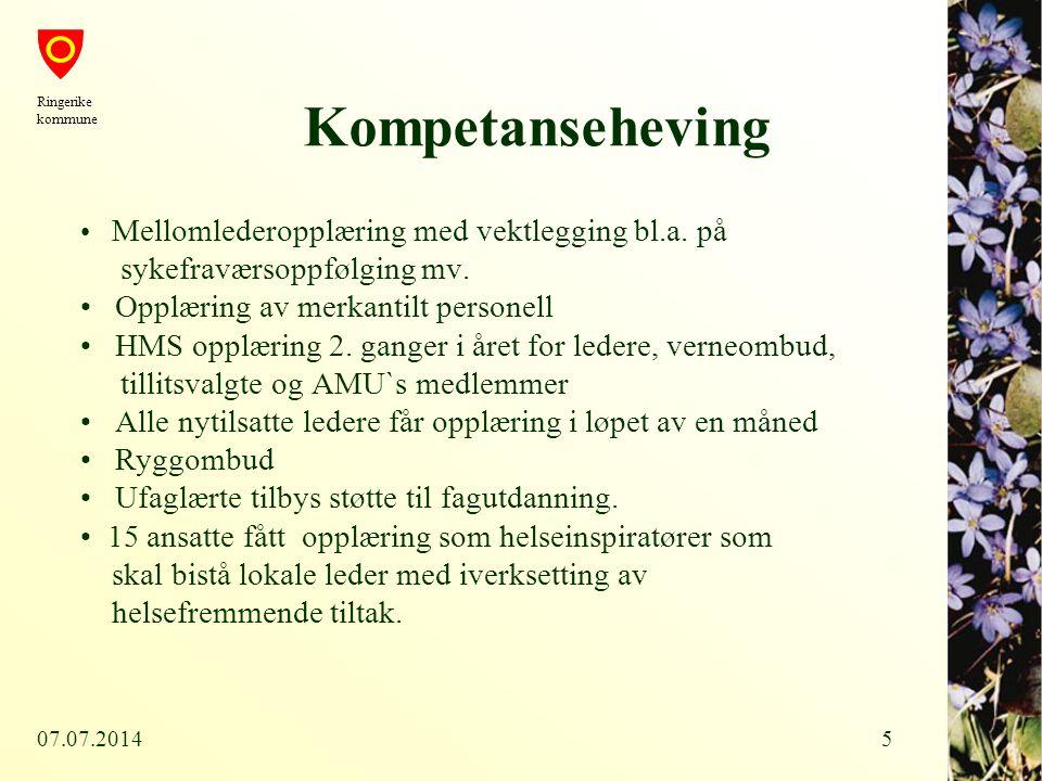 Kompetanseheving sykefraværsoppfølging mv.