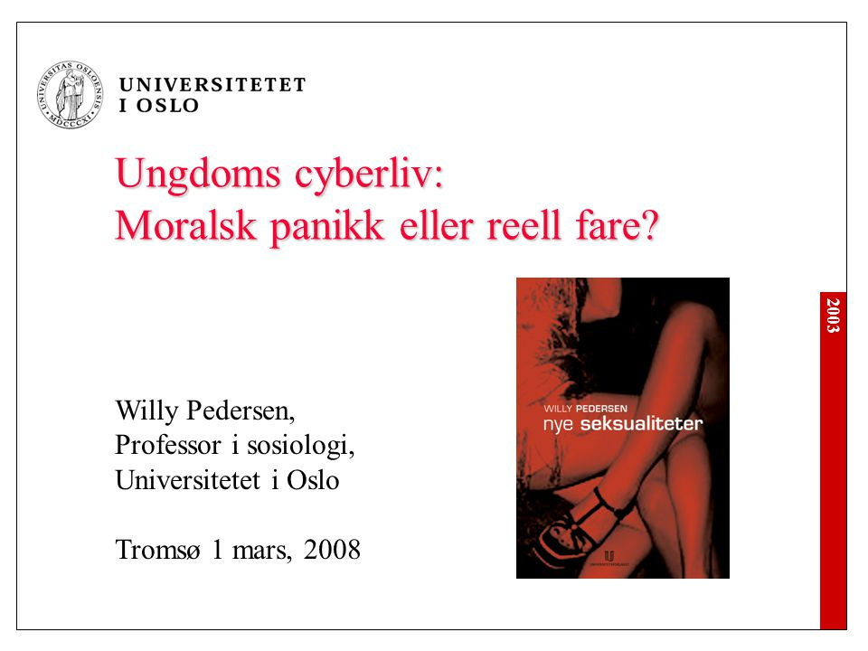 Ungdoms cyberliv: Moralsk panikk eller reell fare