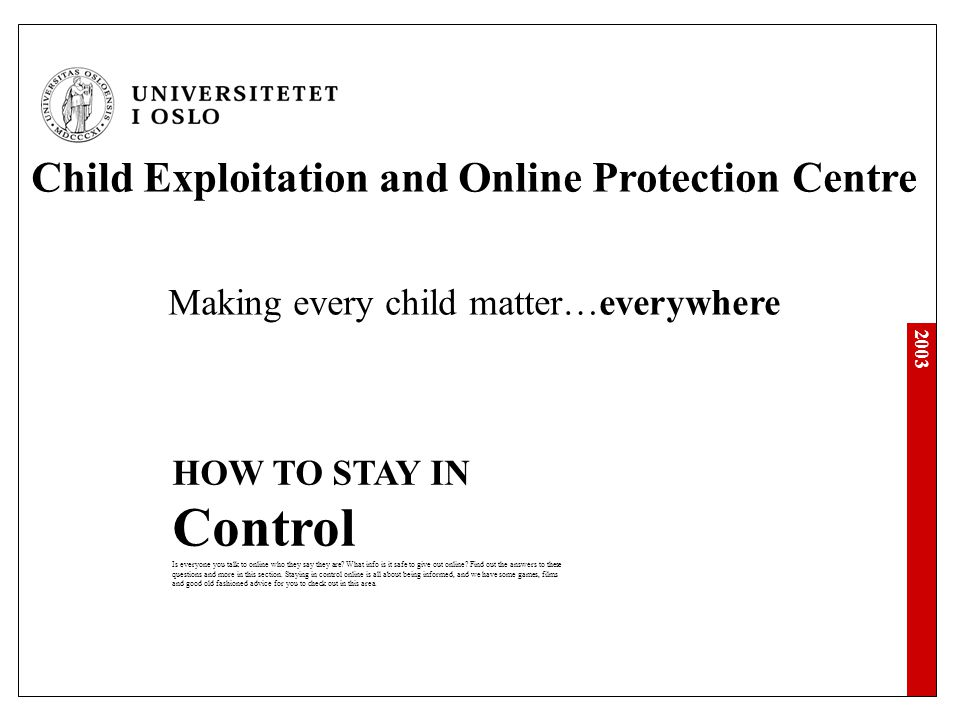 Child Exploitation and Online Protection Centre