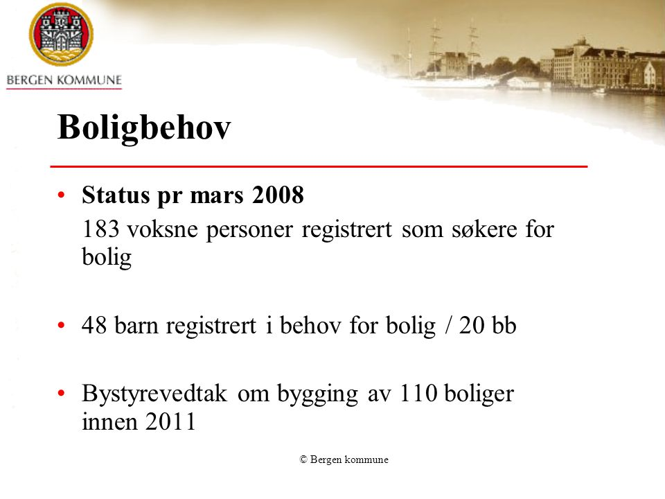 Boligbehov Status pr mars 2008