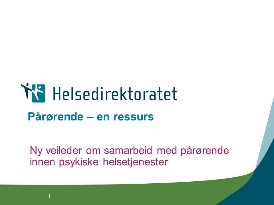 Ny veileder om samarbeid med pårørende innen psykiske helsetjenester