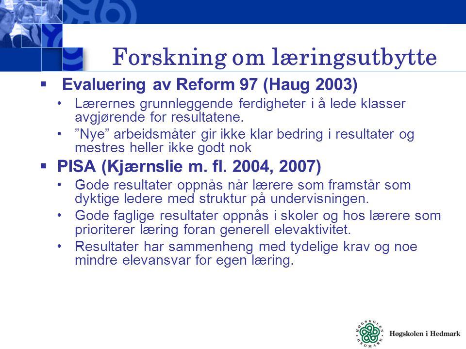 Forskning om læringsutbytte