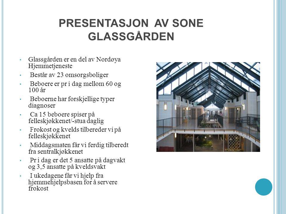 PRESENTASJON AV SONE GLASSGÅRDEN