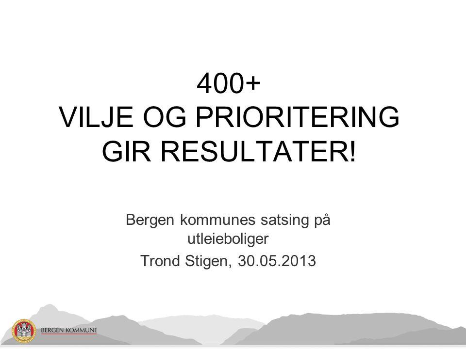 400+ VILJE OG PRIORITERING GIR RESULTATER!