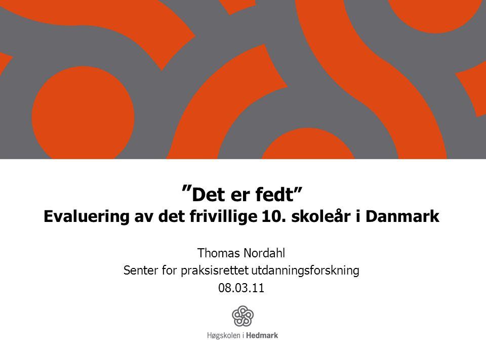 Det er fedt Evaluering av det frivillige 10. skoleår i Danmark