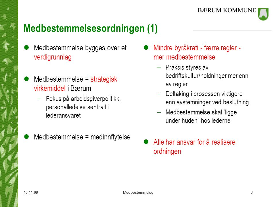 Medbestemmelsesordningen (1)