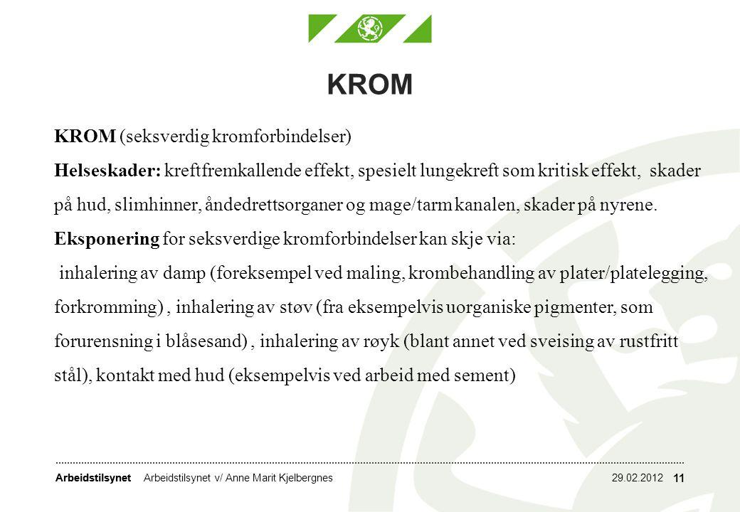KROM KROM (seksverdig kromforbindelser)