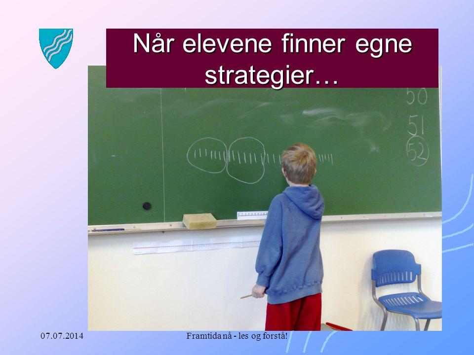 Når elevene finner egne strategier…