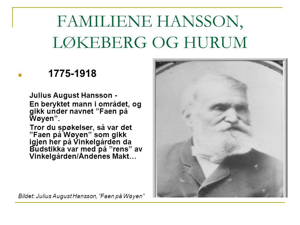 FAMILIENE HANSSON, LØKEBERG OG HURUM