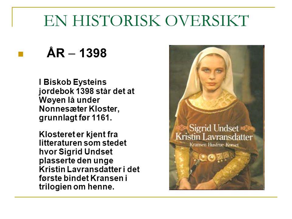EN HISTORISK OVERSIKT ÅR – 1398
