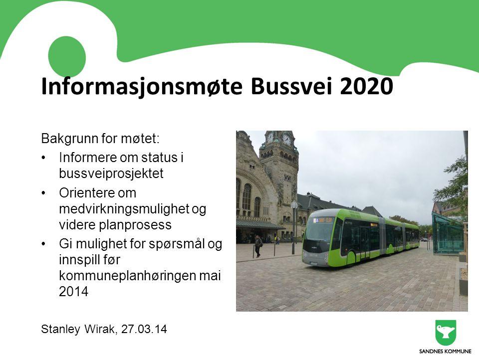 Informasjonsmøte Bussvei 2020