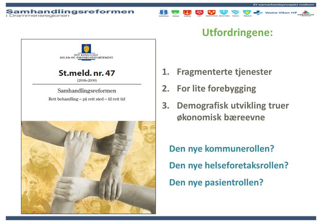 Utfordringene: Fragmenterte tjenester For lite forebygging