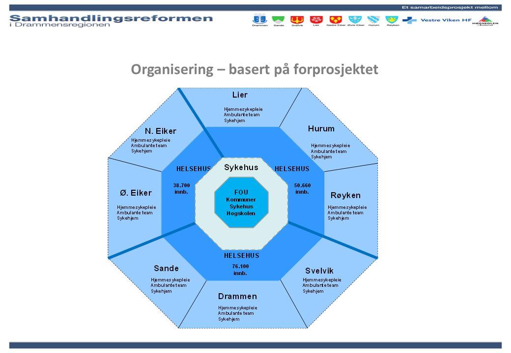 Organisering – basert på forprosjektet