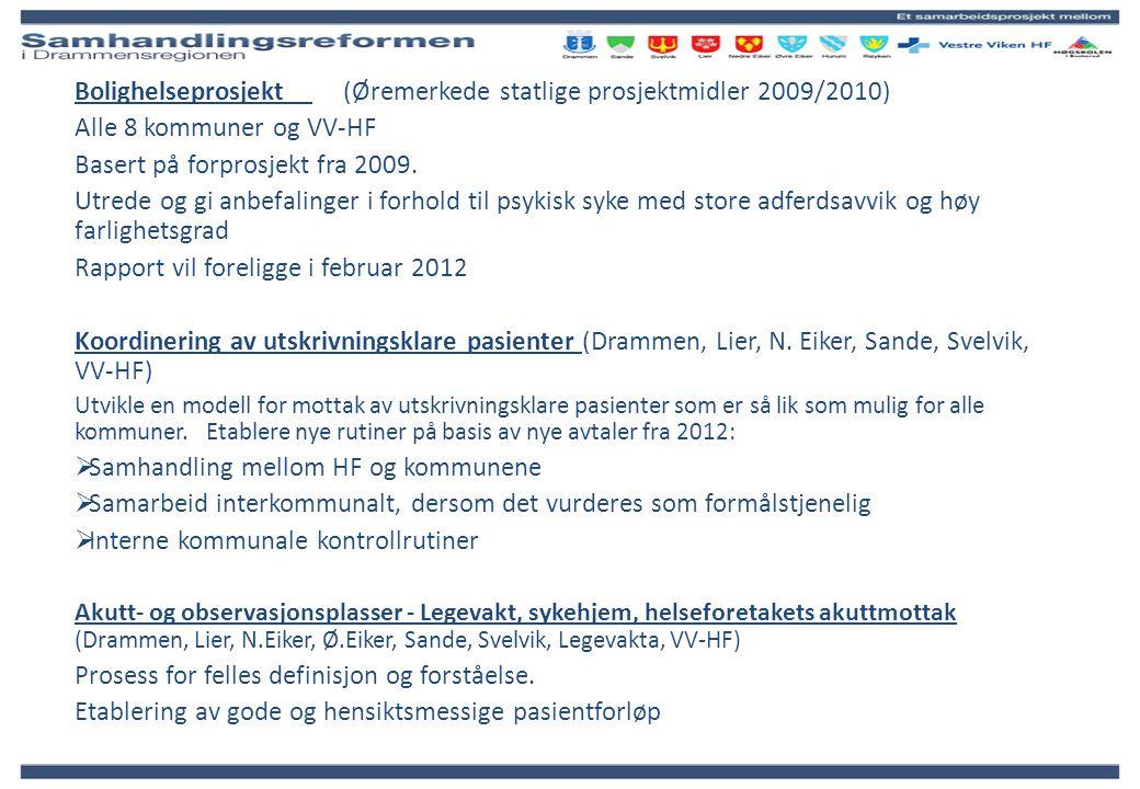 Bolighelseprosjekt (Øremerkede statlige prosjektmidler 2009/2010)