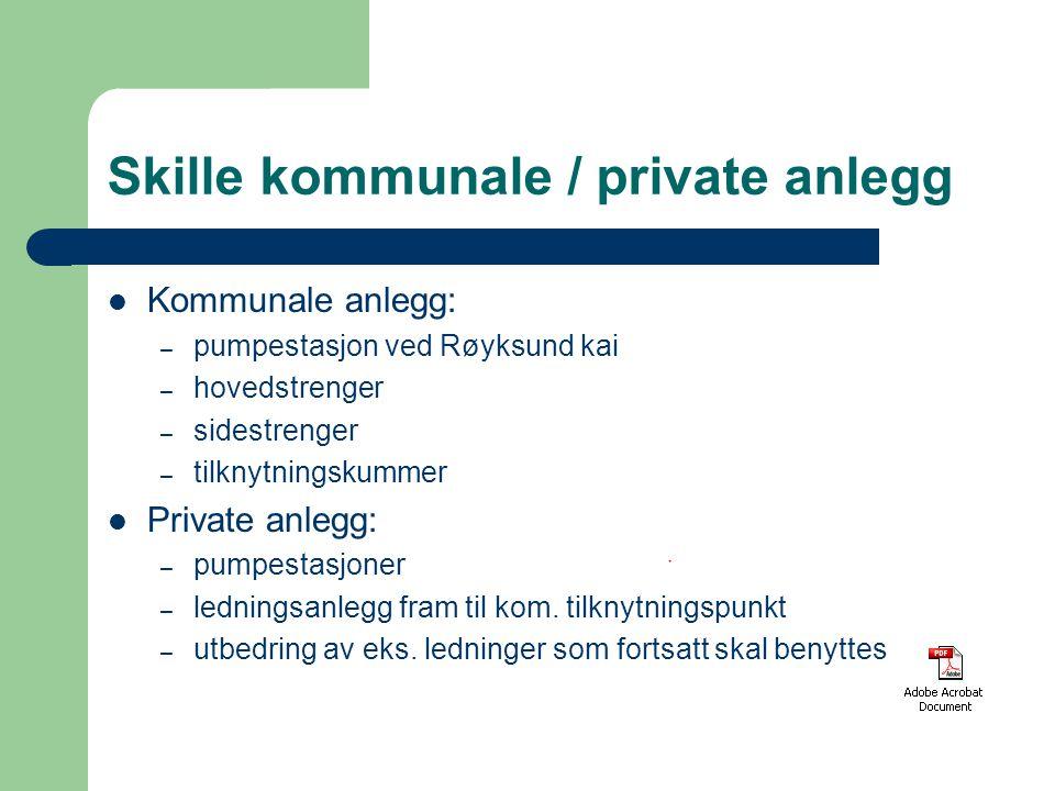 Skille kommunale / private anlegg