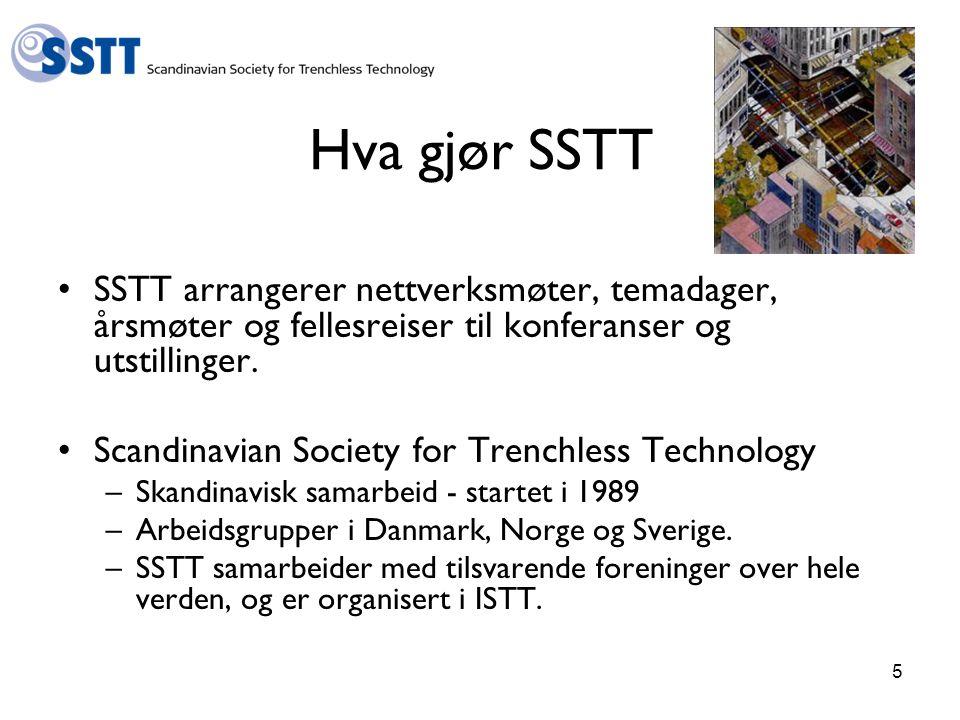 Hva gjør SSTT SSTT arrangerer nettverksmøter, temadager, årsmøter og fellesreiser til konferanser og utstillinger.