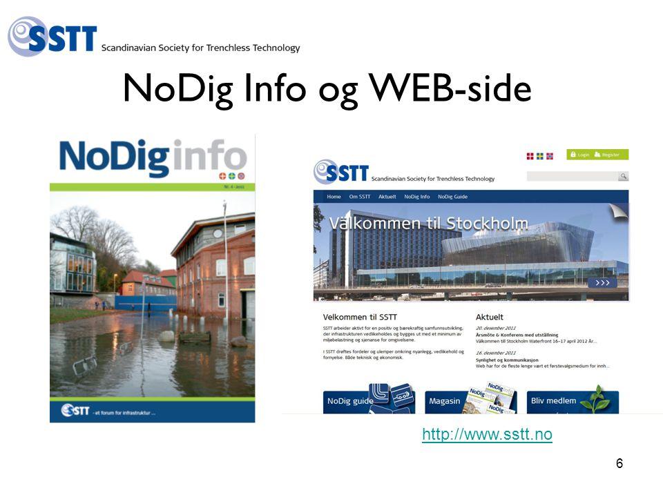 NoDig Info og WEB-side http://www.sstt.no