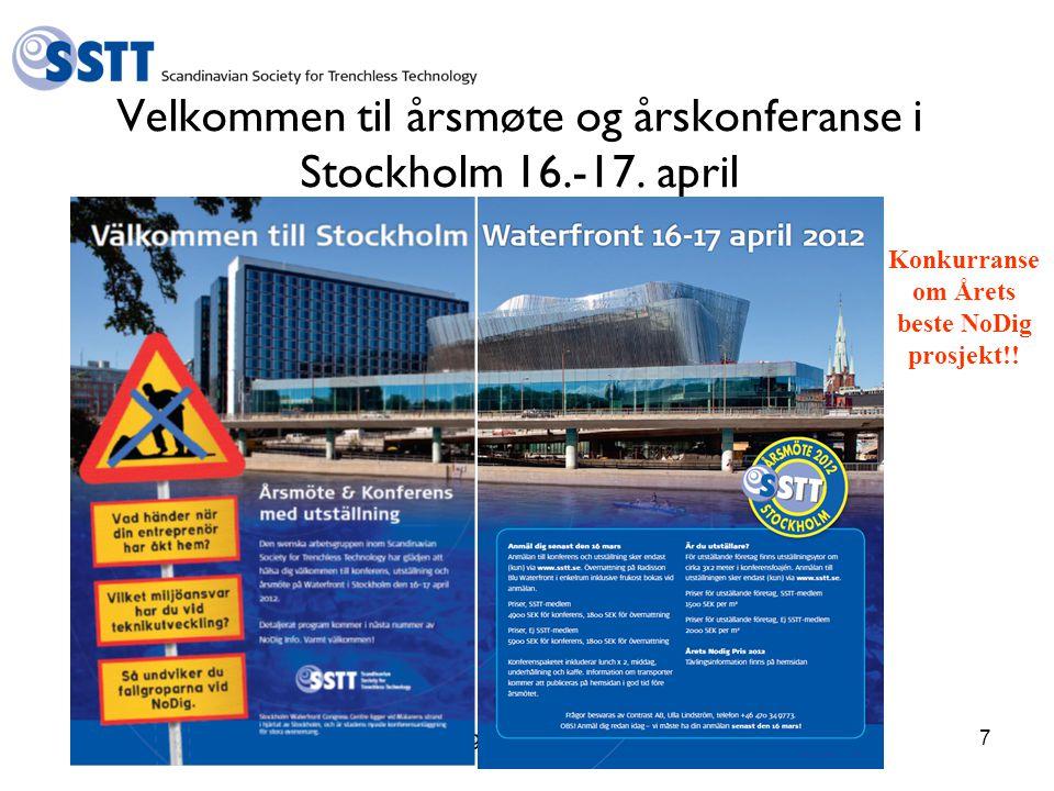 Velkommen til årsmøte og årskonferanse i Stockholm 16.-17. april