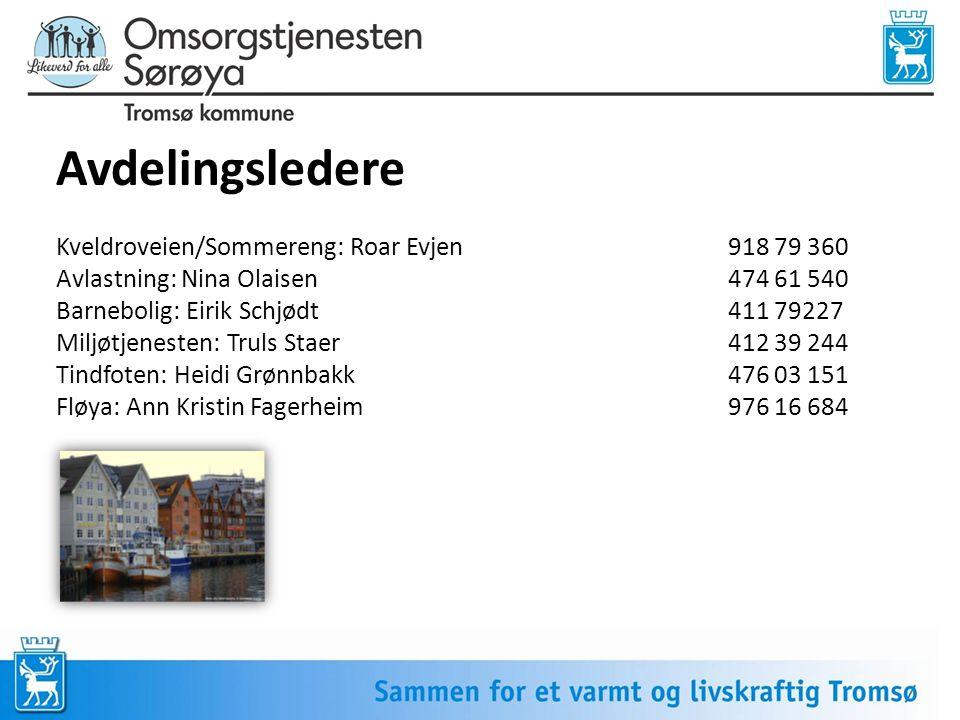 Avdelingsledere Kveldroveien/Sommereng: Roar Evjen 918 79 360