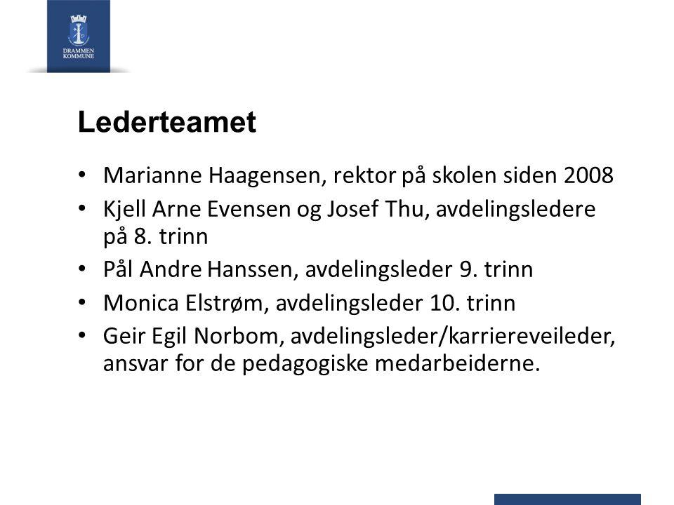 Lederteamet Marianne Haagensen, rektor på skolen siden 2008