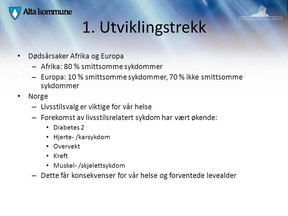 1. Utviklingstrekk Dødsårsaker Afrika og Europa