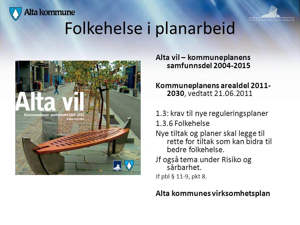 Folkehelse i planarbeid