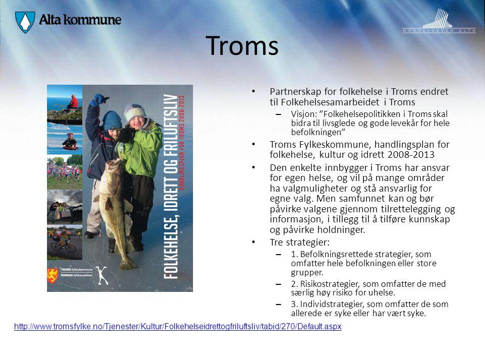 Troms Partnerskap for folkehelse i Troms endret til Folkehelsesamarbeidet i Troms.