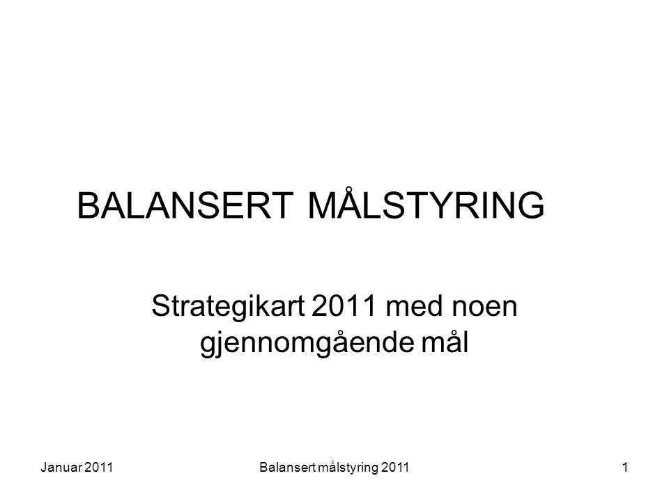 Strategikart 2011 med noen gjennomgående mål