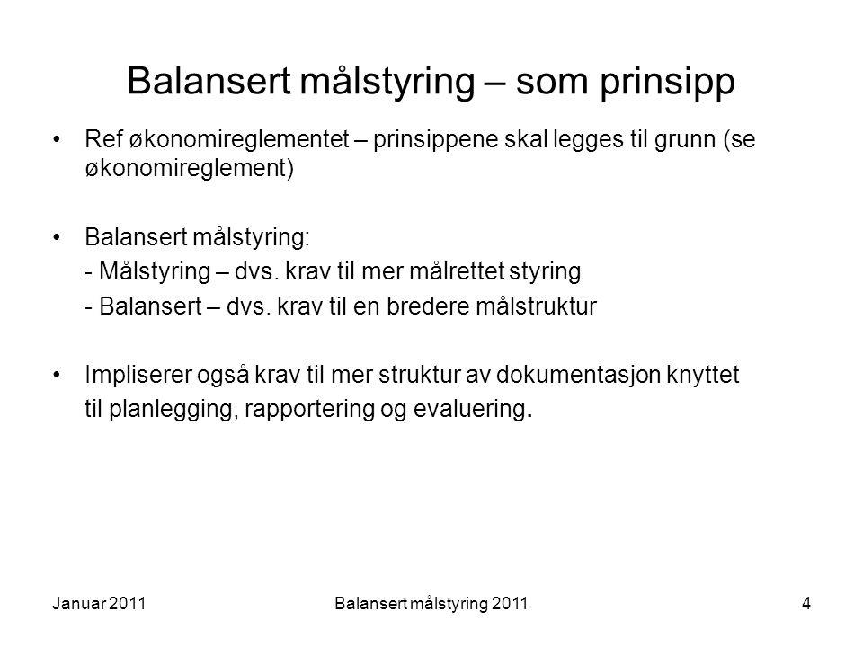 Balansert målstyring – som prinsipp