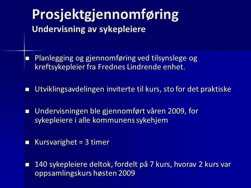 Prosjektgjennomføring Undervisning av sykepleiere