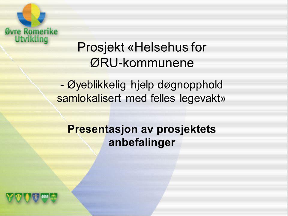 Presentasjon av prosjektets anbefalinger