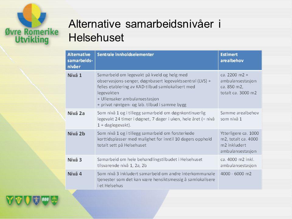 Alternative samarbeidsnivåer i Helsehuset