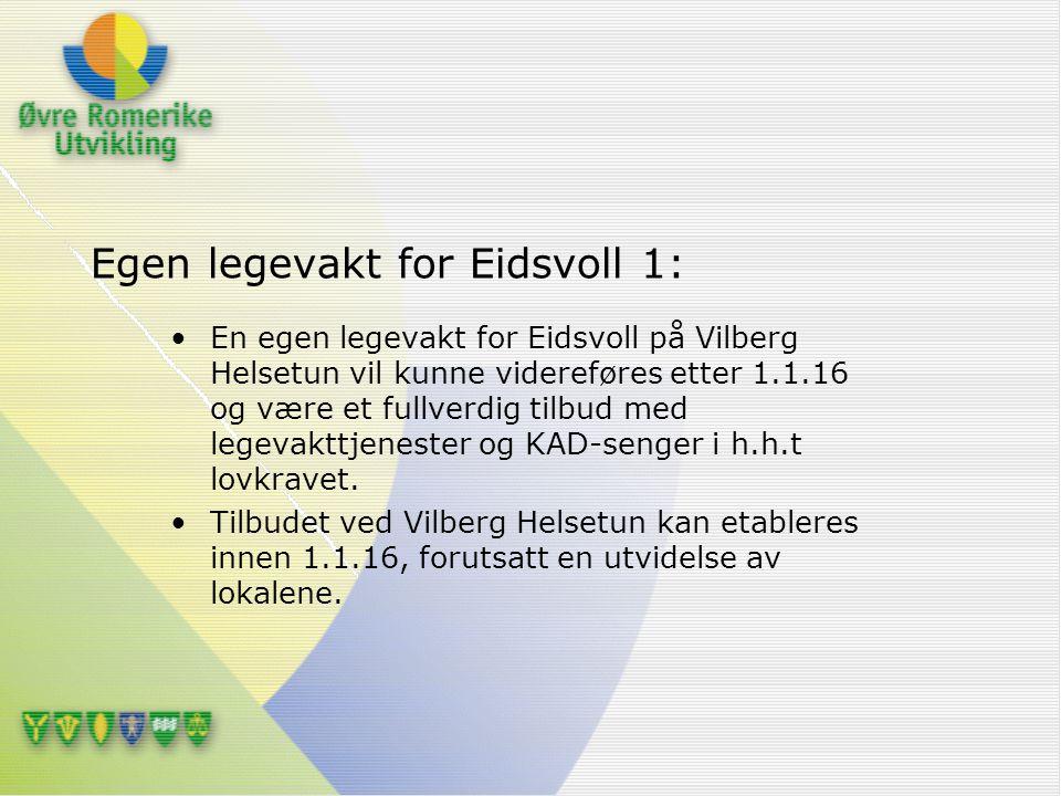 Egen legevakt for Eidsvoll 1: