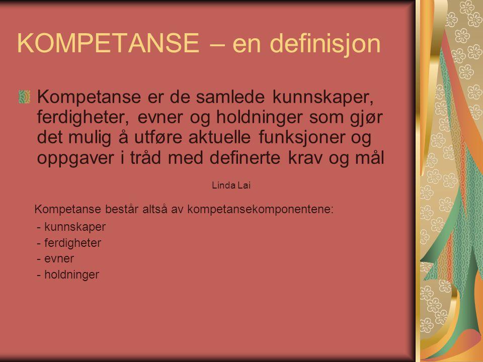 KOMPETANSE – en definisjon