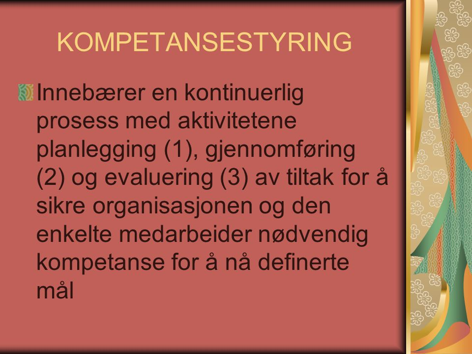 KOMPETANSESTYRING