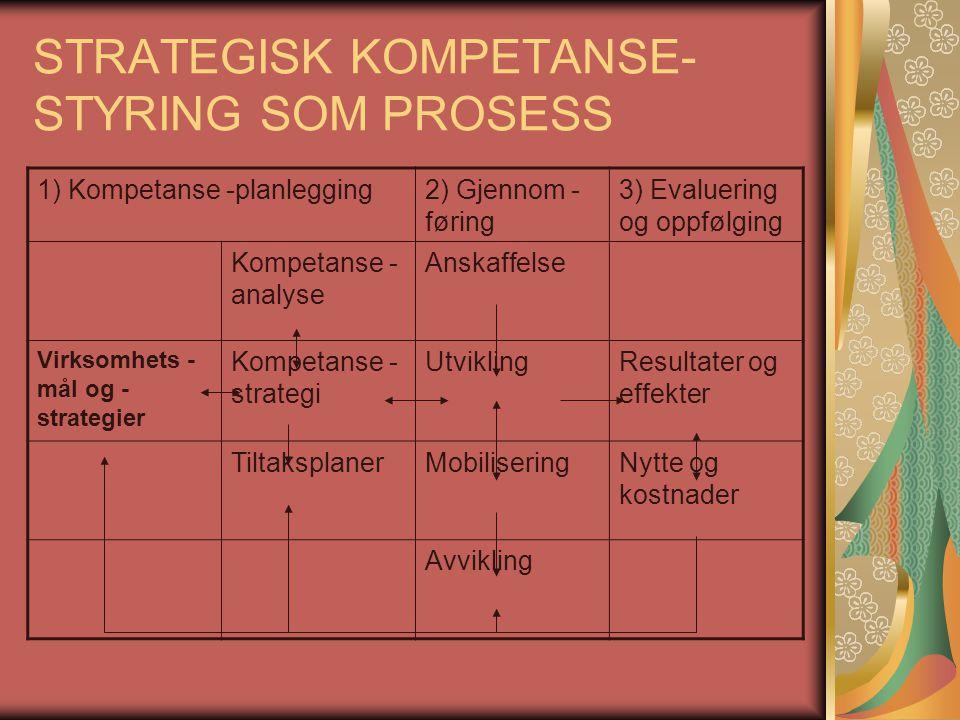 STRATEGISK KOMPETANSE-STYRING SOM PROSESS