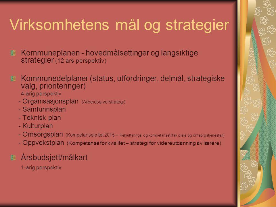 Virksomhetens mål og strategier