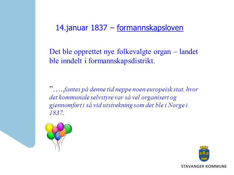 14.januar 1837 – formannskapsloven