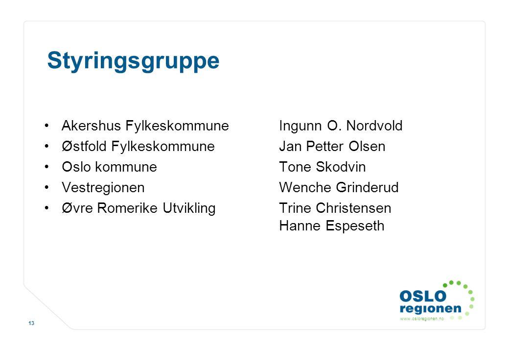Styringsgruppe Akershus Fylkeskommune Ingunn O. Nordvold