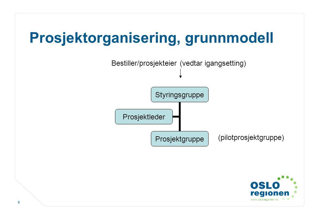 Prosjektorganisering, grunnmodell