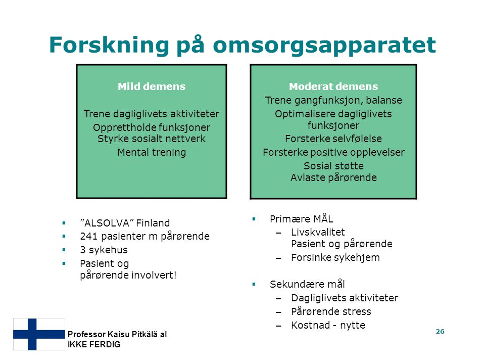Forskning på omsorgsapparatet