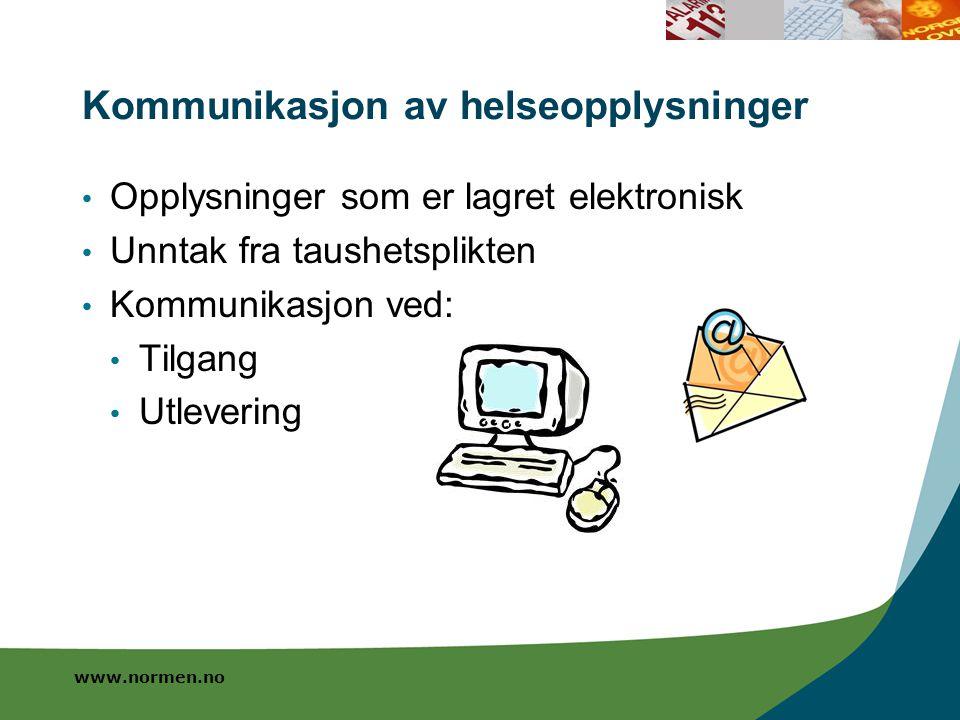 Kommunikasjon av helseopplysninger