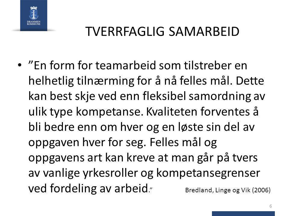 TVERRFAGLIG SAMARBEID